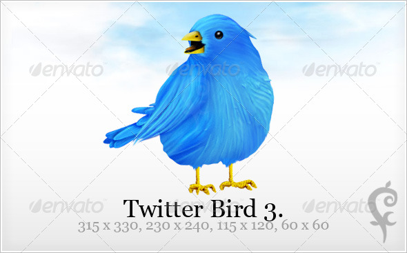 Twitter Bird 3 - Web Icons