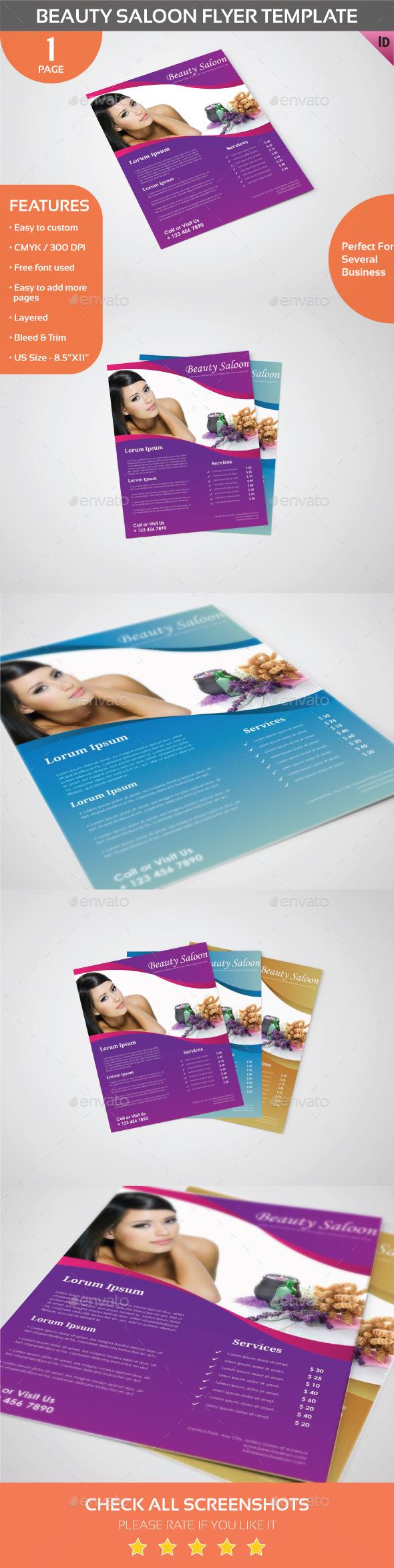 Beauty Salon Flyer Template - Commerce Flyers