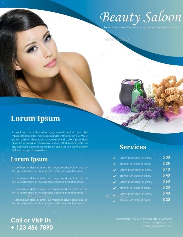 Beauty Salon Flyer Template   Commerce Flyers · 01_preview ...
