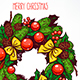 Hand-Drawn Christmas Wreath - GraphicRiver Item for Sale