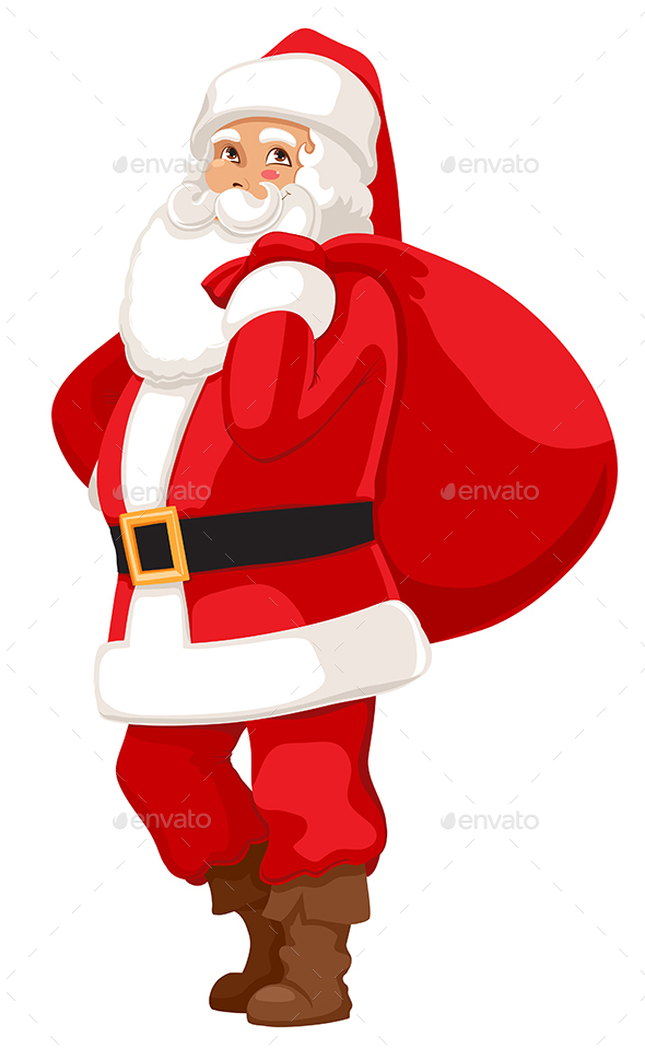 Cheerful Santa - Christmas Seasons/Holidays