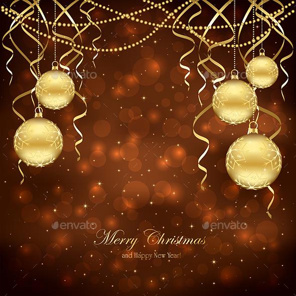 Christmas Decoration with Balls - Christmas Seasons/Holidays