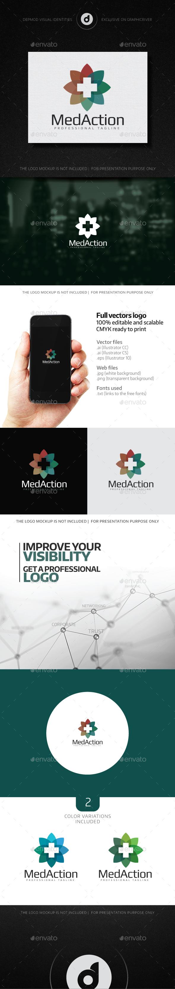 Med Action Logo - Symbols Logo Templates