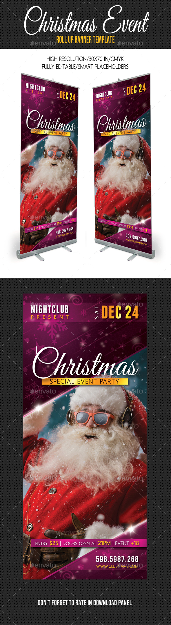 Christmas Party Multipurpose Banner - Signage Print Templates
