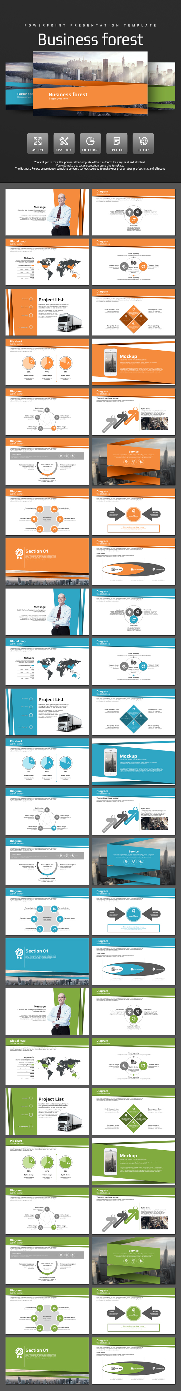 Business Forest - PowerPoint Templates Presentation Templates