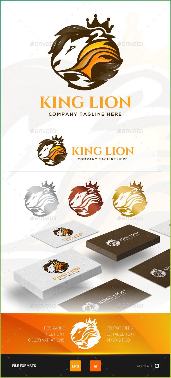 King Lion Logo Template - Animals Logo Templates
