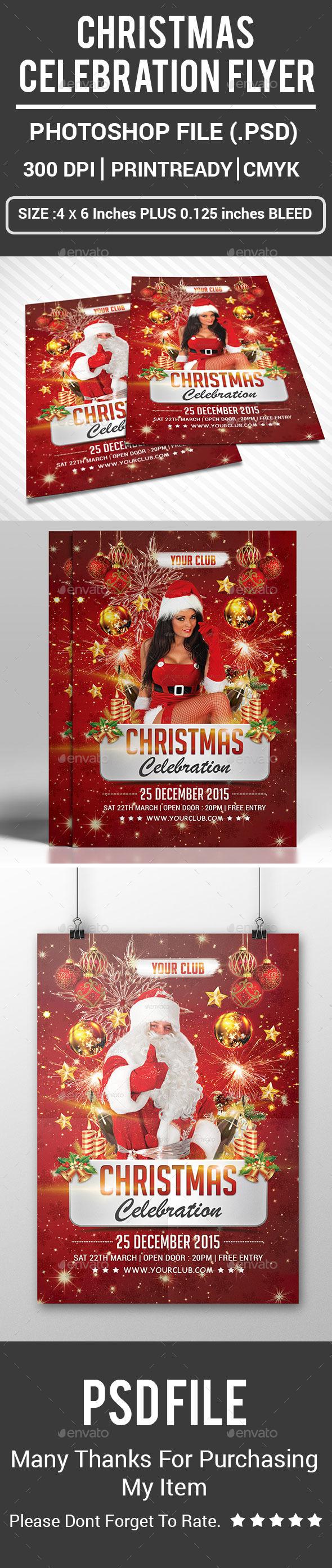 Christmas Celebration Flyer - Events Flyers