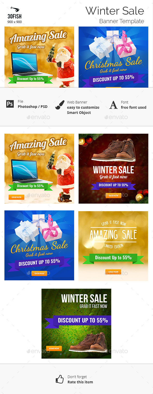 Winter Sale Banner - Banners & Ads Web Elements