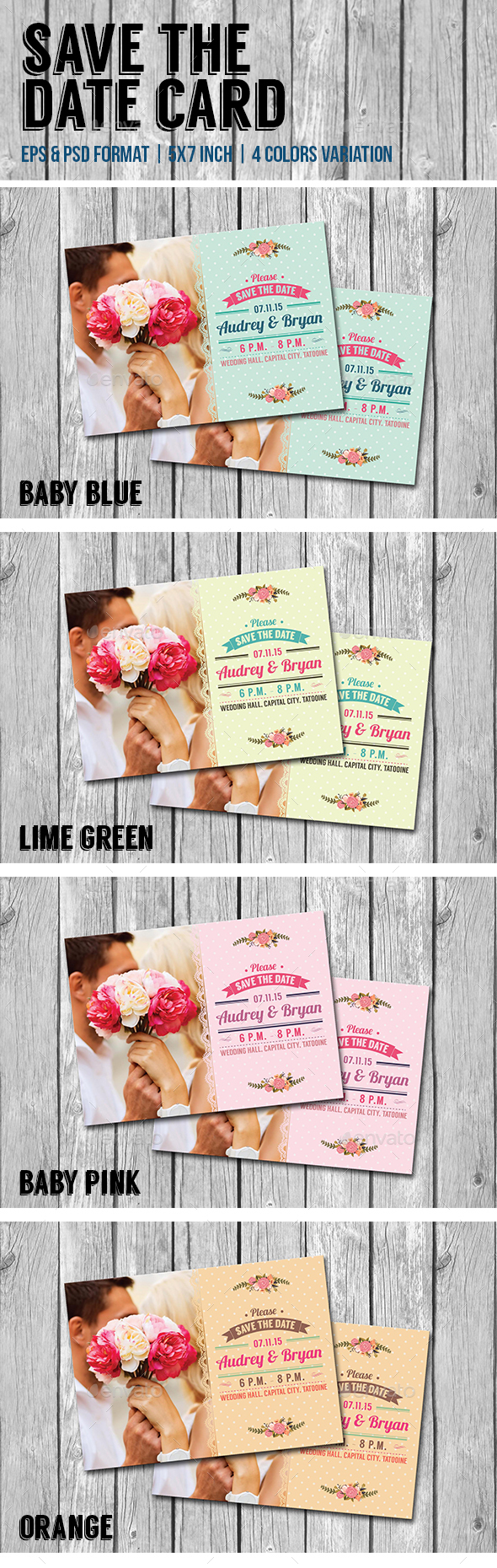 Save The Date Card - Weddings Cards & Invites