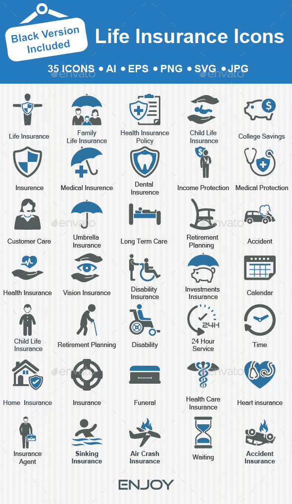 Life Insurance icons - Business Icons