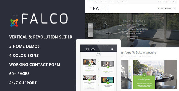 Falco - Responsive Multi-Purpose Joomla Theme - Business Corporate