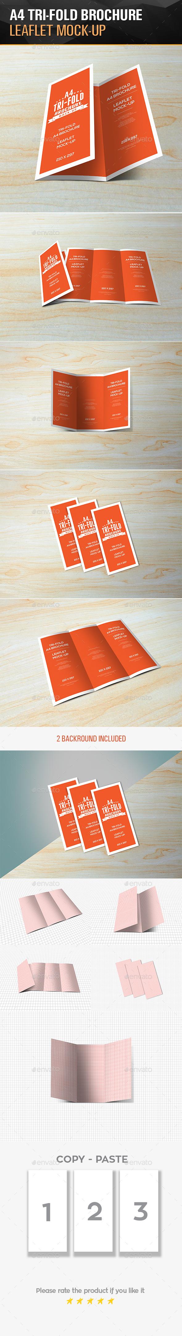 Tri-Fold Leaflet A4 brochure Mockups - Brochures Print