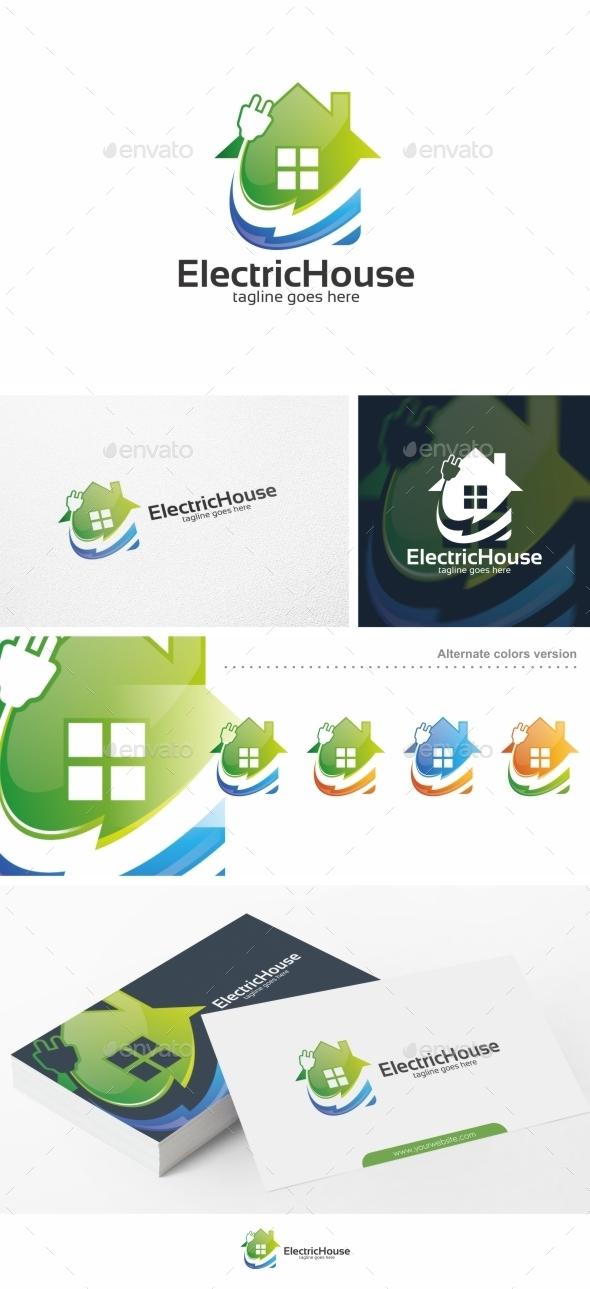 Electric House - Logo Template - Buildings Logo Templates