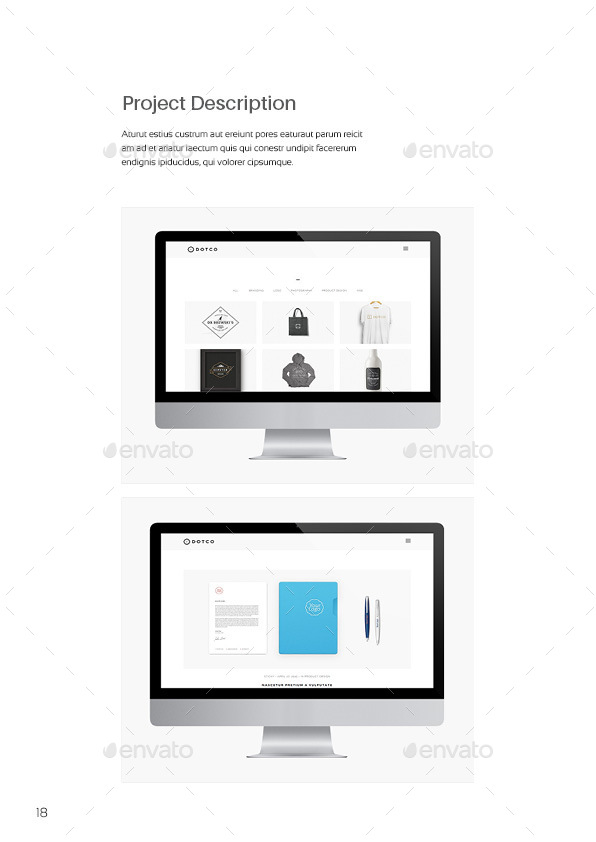 indesign portfolio template by raseuki graphicriver. Black Bedroom Furniture Sets. Home Design Ideas