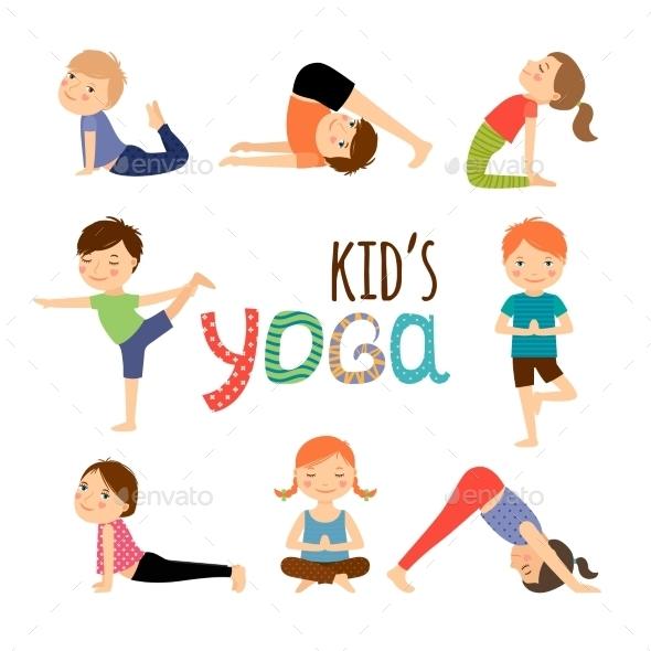 Yoga Kids Set - Sports/Activity Conceptual