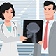 Cartoon Clinic / Woman Doctor Talking With Patient - VideoHive Item for Sale