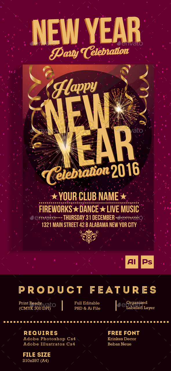 New Year Celebration Party - Clubs & Parties Events