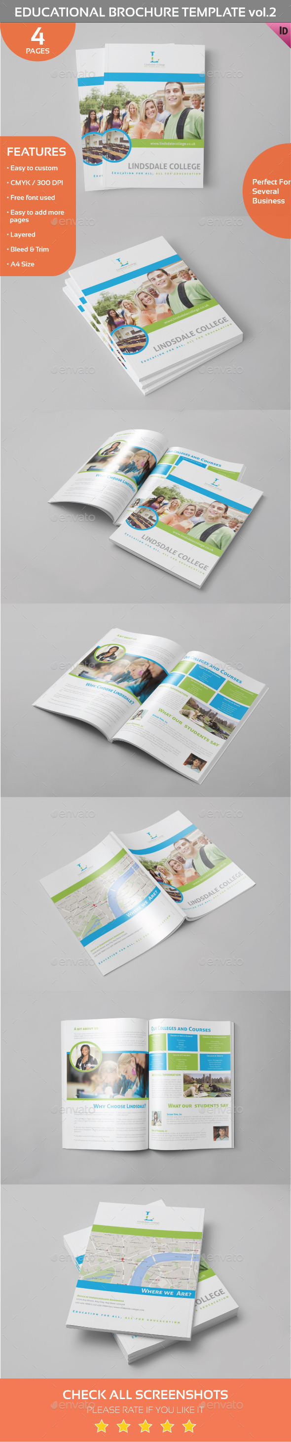 Educational Brochure Template Vol.2 - Informational Brochures