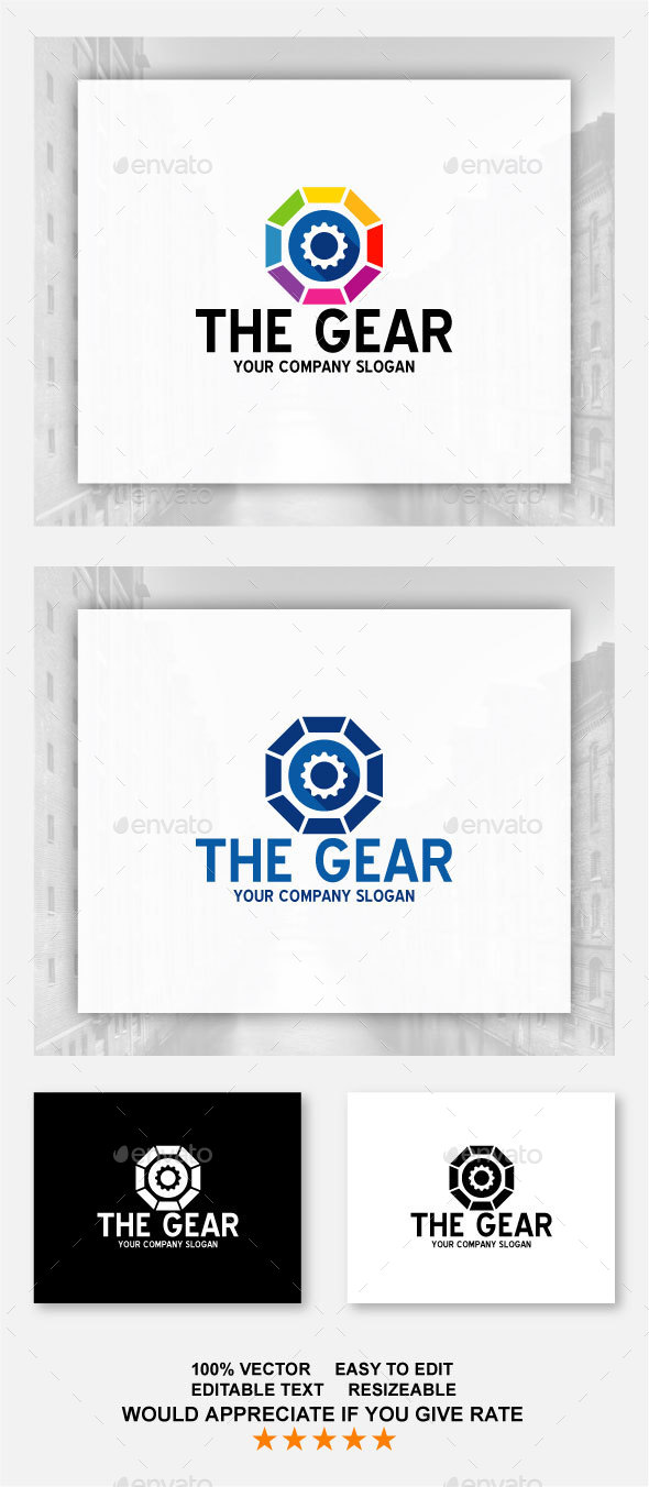 The Gear Logo - Symbols Logo Templates