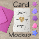 Editable Romantic Card Mockup - GraphicRiver Item for Sale