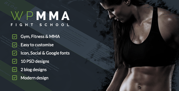 WP MMA - Gym & Fitness PSD - Business Corporate