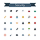 Security Flat Icons - GraphicRiver Item for Sale