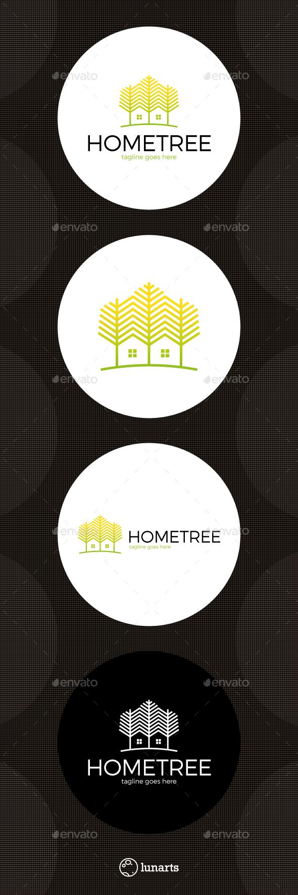 Tree Line Home Logo - Nature Logo Templates