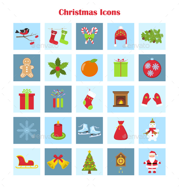 Vector Collection of Christmas Icons - Seasonal Icons