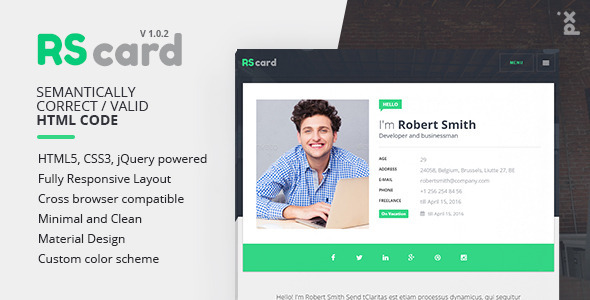 Personal Resume / CV / vCard