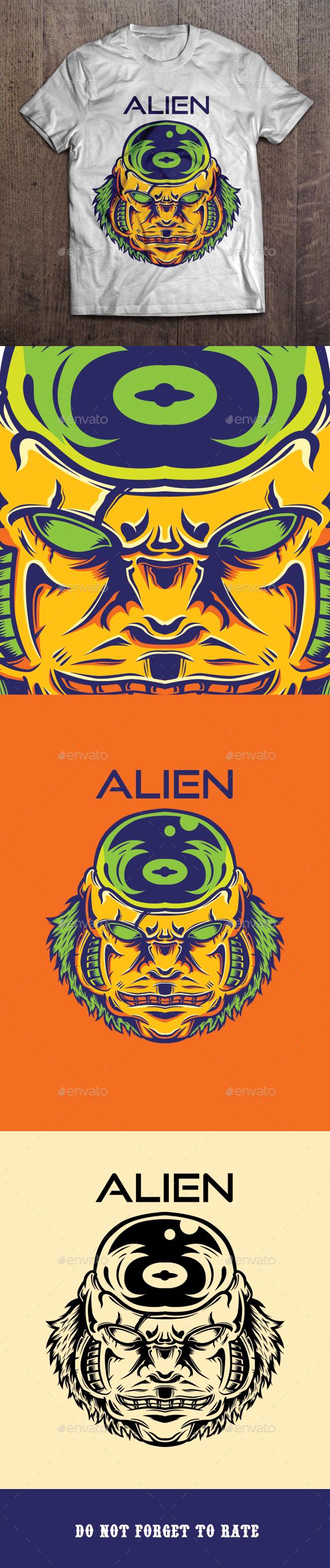 Alien T-shirt Design - Grunge Designs