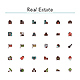 Real Estate Colored Line Icons - GraphicRiver Item for Sale