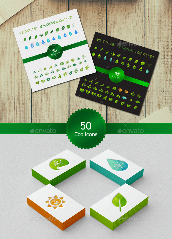 50 Ecology Symbols - Nature Conceptual