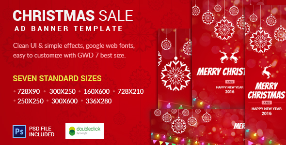 Christmas Sale | AD Banner Template   CodeCanyon Item For Sale  For Sale Ad Template