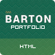 BARTON - Smart Portfolio for Creative People