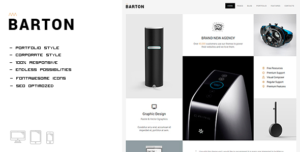 BARTON - Smart Portfolio for Creative People - Portfolio Creative