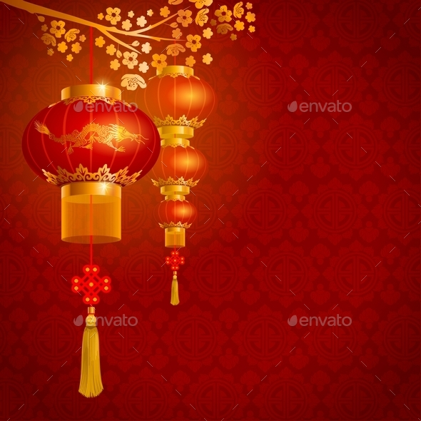 Chinese Lanterns  - Travel Conceptual