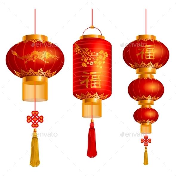 Chinese Lanterns Set - Travel Conceptual