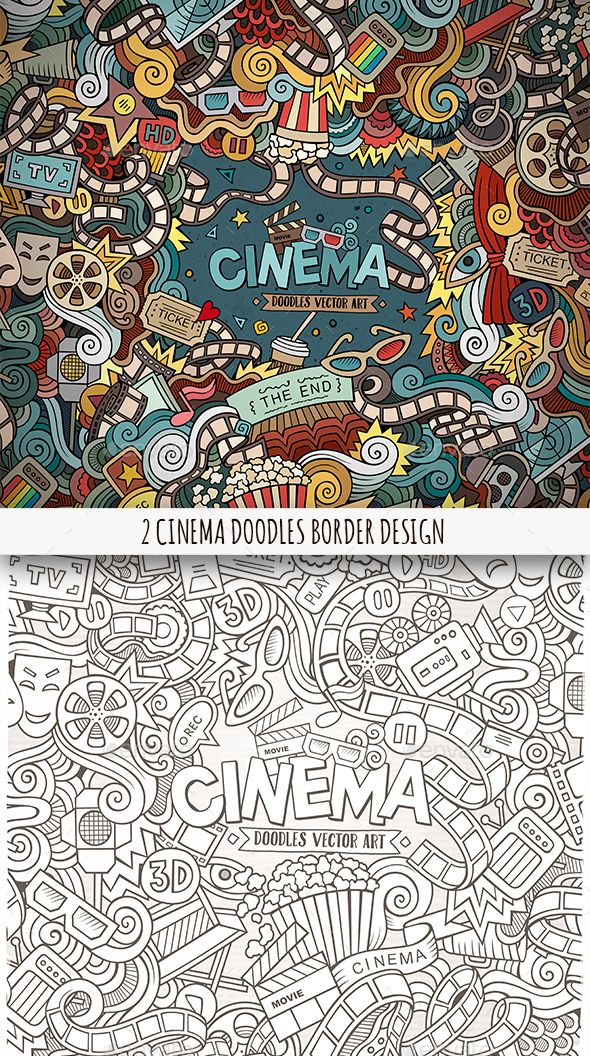 2 Cinema Doodles Frames - Media Technology