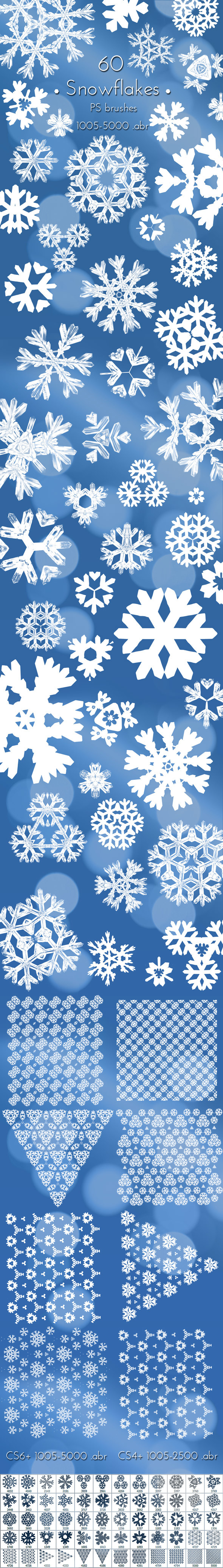 Christmas Snowflakes Brushes