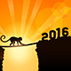 Monkey Going from 2015 to 2016 - GraphicRiver Item for Sale