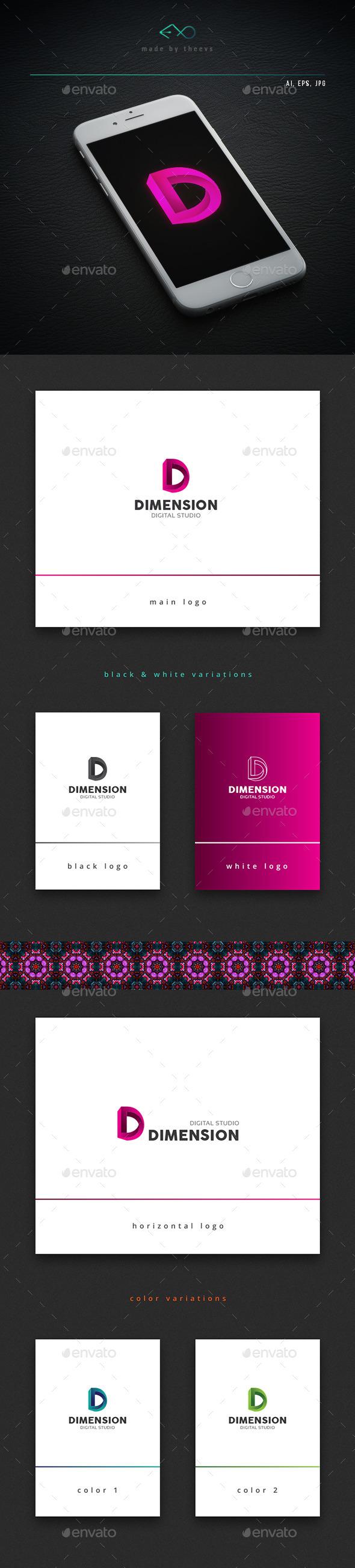 Dimension - Letters Logo Templates