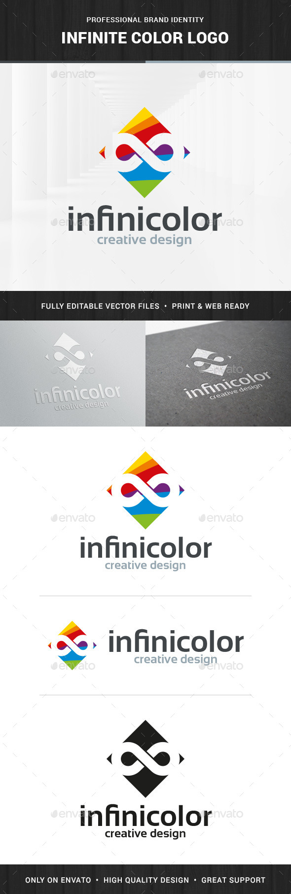 Infinite Color Logo Template - Symbols Logo Templates