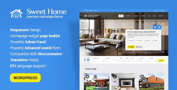 Sweethome - Responsive Real Estate WordPress Theme