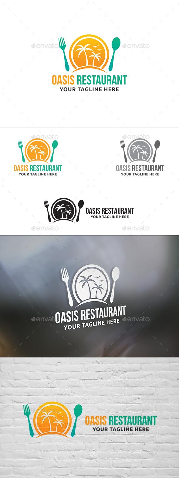 Oasis Restaurant Logo - Restaurant Logo Templates
