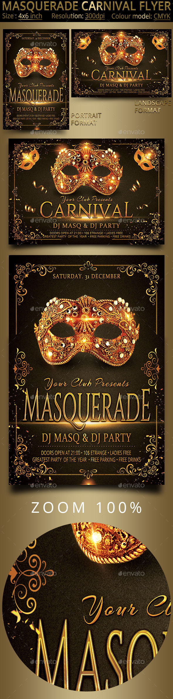 Masquerade Carnival Party Flyer - Events Flyers