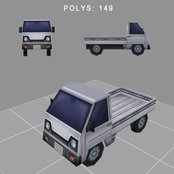 car low-poly for game - 3DOcean Item for Sale