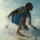 Surfer On Blue Ocean Wave In The Tube Getting - VideoHive Item for Sale