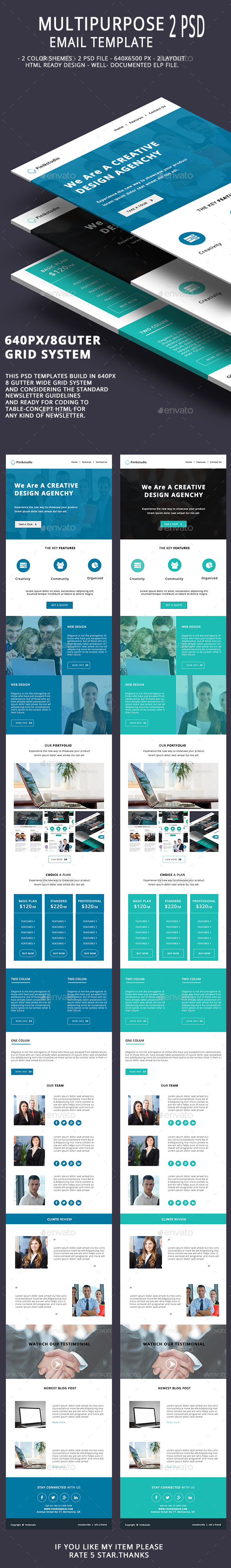 Multipurpose Email Template V10 - E-newsletters Web Elements
