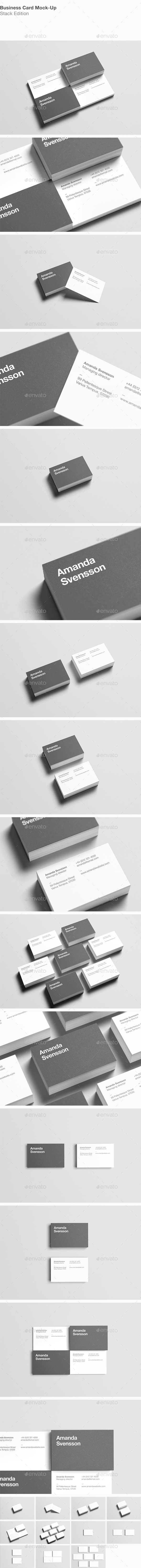Business Card Stack Mock-Up - Business Cards Print