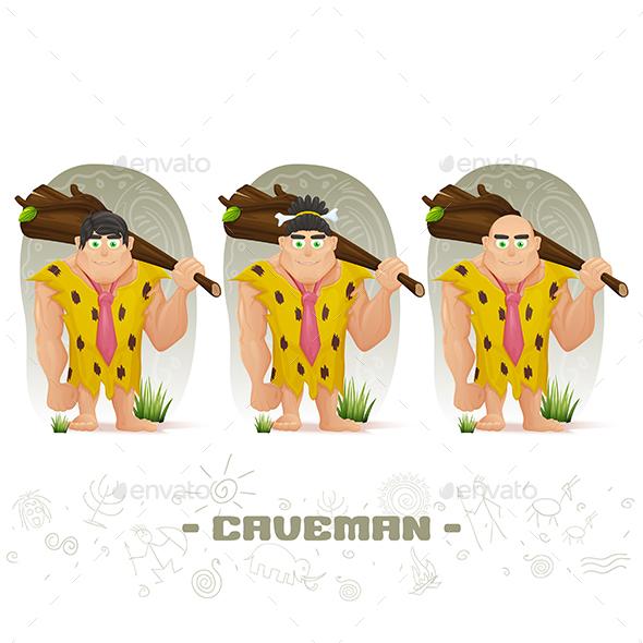 Caveman - Characters Vectors